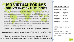ISO Virtual Forums